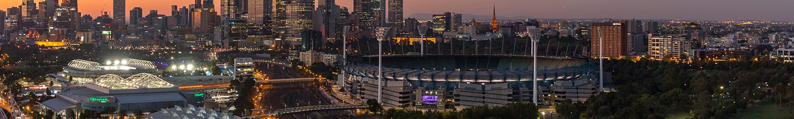 Picture of the MCG at sunset